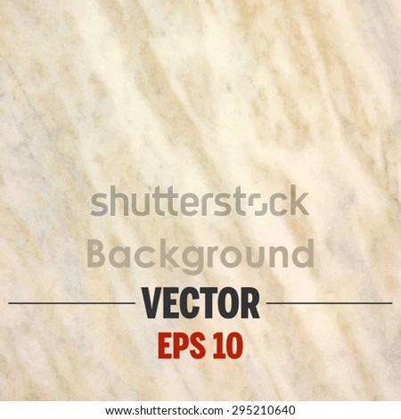 Beige marble texture Vector background. - stock vector