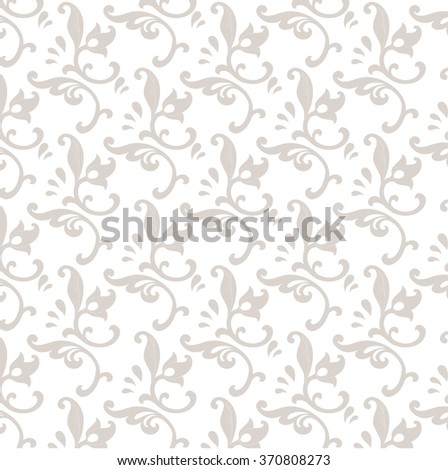 beige russian style pattern on white background