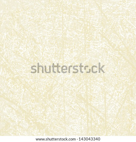 Beige scratched vector background - stock vector