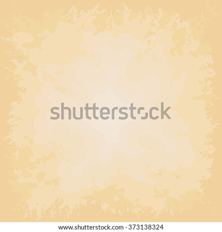 Beige vector background, grungy old paper. - stock vector