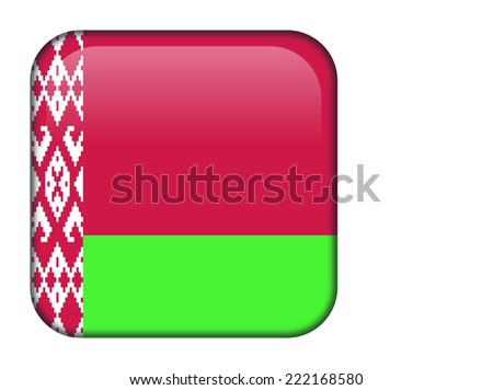 Belarus glossy rectangle button - stock vector