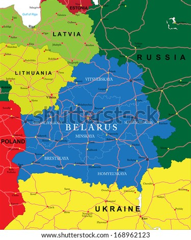 Belarus map stock vector 168962123 shutterstock belarus map gumiabroncs Images