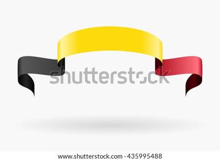 Belgian flag wavy abstract background. Vector illustration. - stock vector
