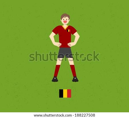 Belgium Soccer Tables  - stock vector