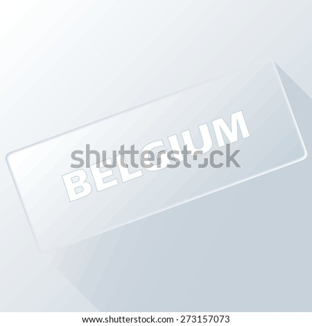 Belgium unique button for any design. Vector illustration