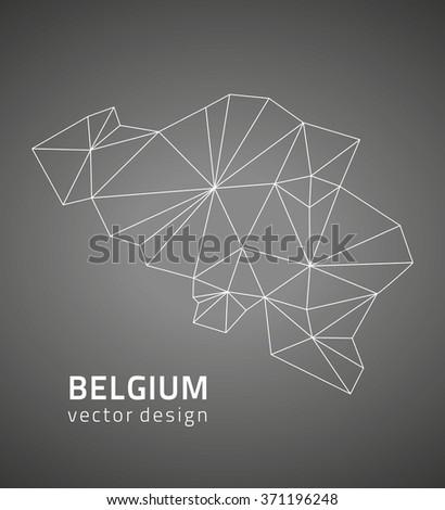 Belgium vector map - stock vector