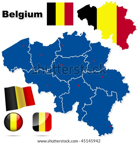 Germany Vector Set Detailed Country Shape Stock Vector - Germany map shape