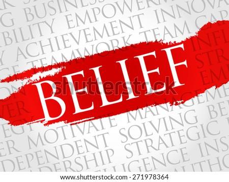 BELIEF word cloud, business concept - stock vector
