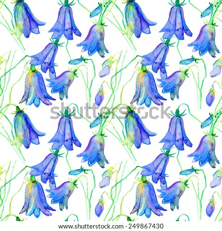 Bell Flowers Drawing Bell Flowers Seamless