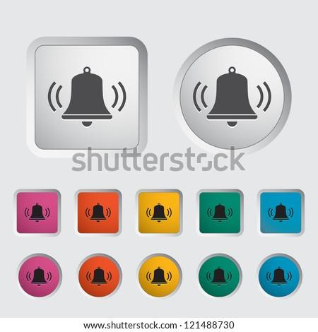 Bell icon. Vector illustration. - stock vector
