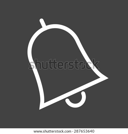 Bell, notification, call icon vector image. Can also be used for education, academics and science. Suitable for use on web apps, mobile apps, and print media. - stock vector