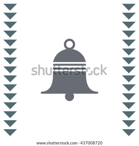 Bell sign vector icon. Sound sign. Alarm hand bell symbol. - stock vector
