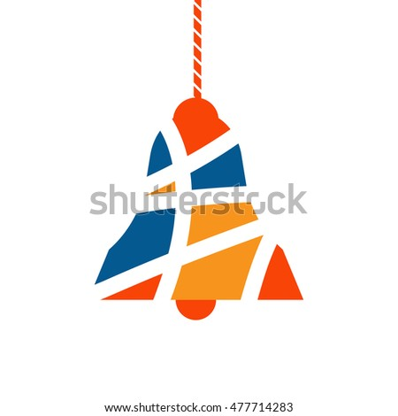 bell symbol design, christmas vector illustration