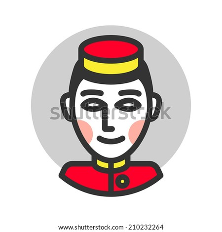 Bellboy icon. Vector illustration. - stock vector