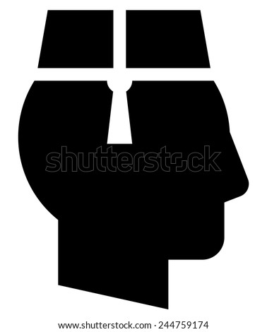 Bellboy in hat icon - stock vector