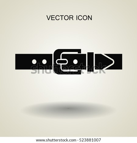 belt buckle vector illustration