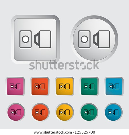 Belt single icon. Vector illustration.