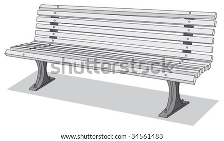 Bench 2 - stock vector