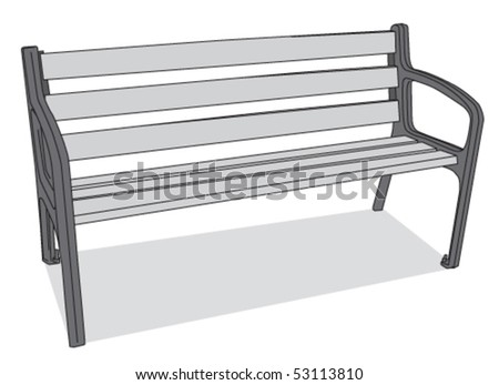 bench 4 - stock vector