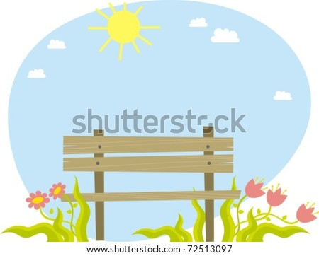 bench - stock vector