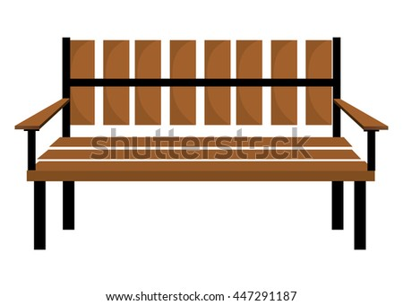 Bench or wooden chair icon design, vector illustration.