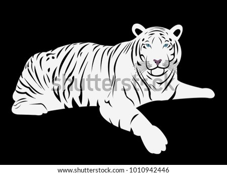 Bengal White Tiger Cartoon