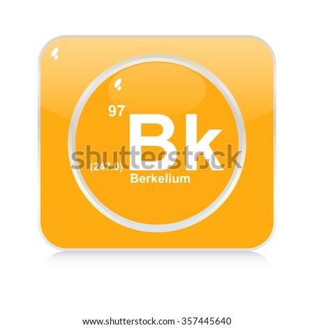 berkelium chemical element button - stock vector