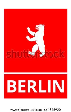 Berlin Bear City Symbol Stock Vector 664346920 Shutterstock