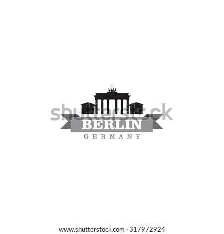 Berlin Germany city symbol vector illustration - stock vector