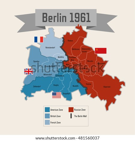 Berlin Germany Cold War Division With Zones