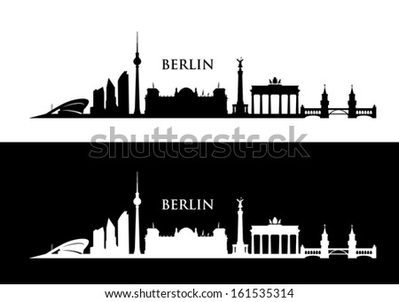 Berlin skyline - vector illustration - stock vector