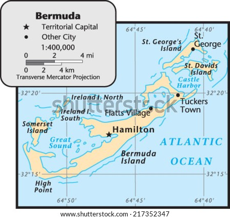 Bermuda Map Stock Images RoyaltyFree Images Vectors Shutterstock - Bermuda islands map
