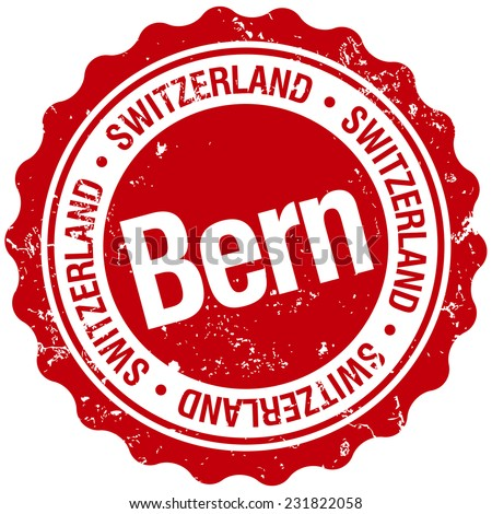 bern stamp - stock vector