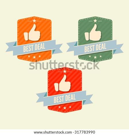 Bes Deal retro logo - stock vector