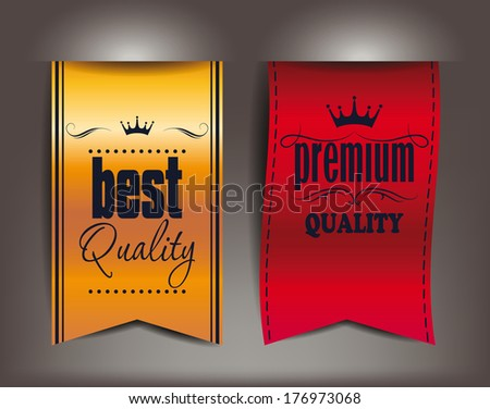 Best and premium quality vector labels - stock vector