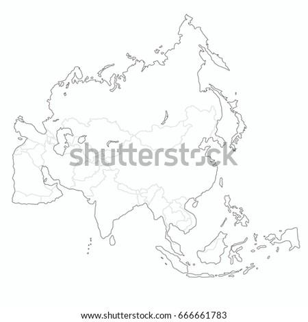 Best asia outline world map stock vector 666661783 shutterstock best asia outline world map gumiabroncs Gallery