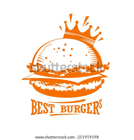 Best burgers graphic logo. - stock vector