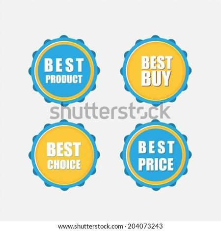 Best buy, Best product ,Best choice, Best price flat stickers