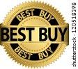 Best buy golden label, vector illustration - stock vector