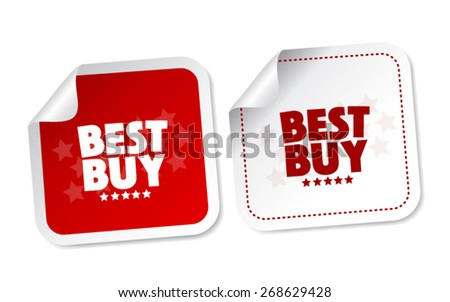 Best buy stickers - stock vector