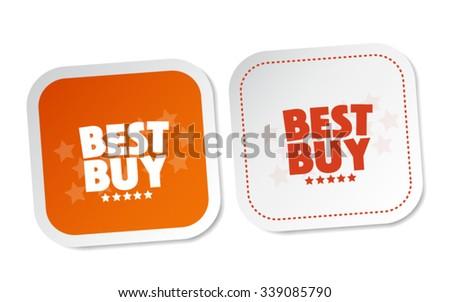 Best buy stickers - stock vector