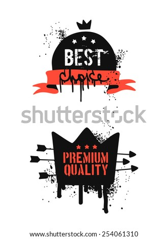 Best choice and premium quality badges and stickers. - stock vector
