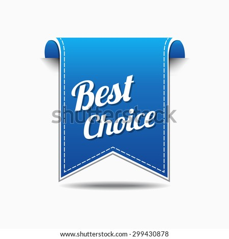 Best Choice Blue Vector Icon Design
