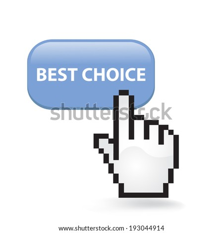 Best Choice Button - stock vector