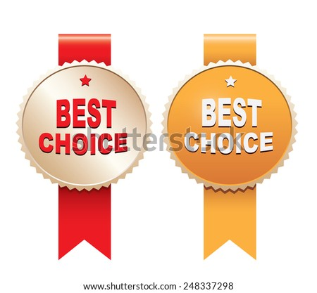 Best choice labels - stock vector