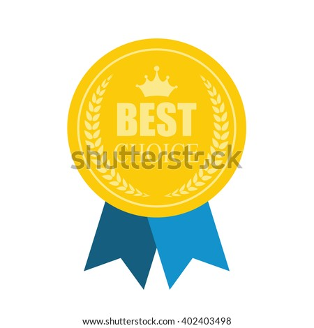 Best Choice Modern Icon Medal. Art Flat for Web. Vector Illustration. EPS10 - stock vector