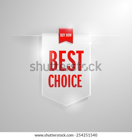 Best choice sale tag use for promotion.Vector illustration  - stock vector