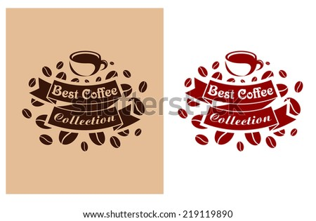 Best coffee retro banner for beverage, cafe and restaurant design - stock vector
