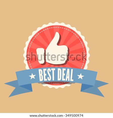 Best Deal badge in retro syle - stock vector