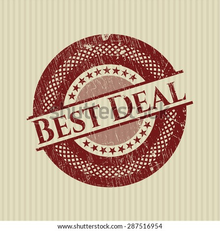 Best Deal grunge seal - stock vector